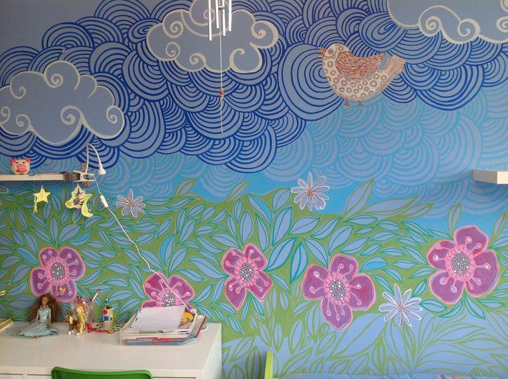 pintura- ilustración mural para habitación infantil