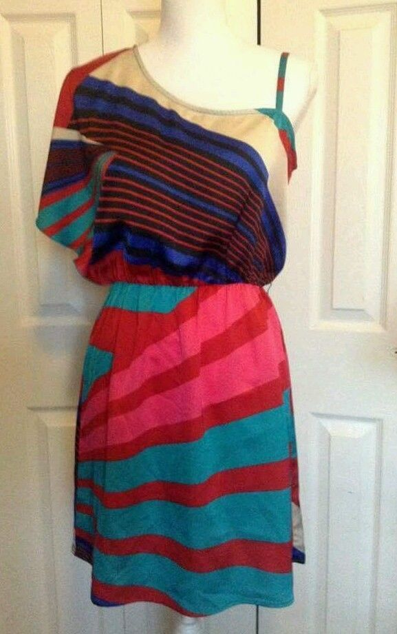 CHARLOTTE RUSSE DRESS MEDIUM ONE SHOULDER GEOMETRIC MULTICOLOR | Clothing, Shoes; Accessories, Womens Clothing, Dresses | eBay! #charlotterusse #geometric #oneshoulderdress #womensdress