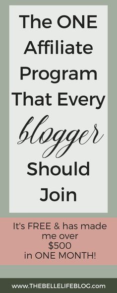 The best affiliate marketing program to join as a new blogger! Make money online with your blog starting from day one! The one affiliate I've used that has skyrocketed my income. Perfect for stay at home moms! #blogging #makemoneyonline #monetizeyourblog
