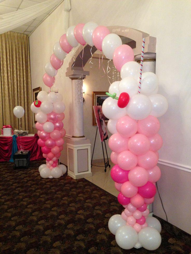 Ice Cream Balloon arch for entrance.