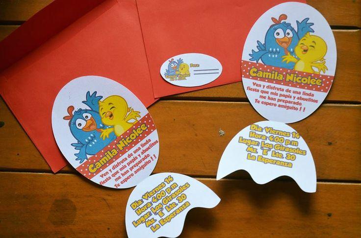 Invitaciones de la gallinita pintada!!