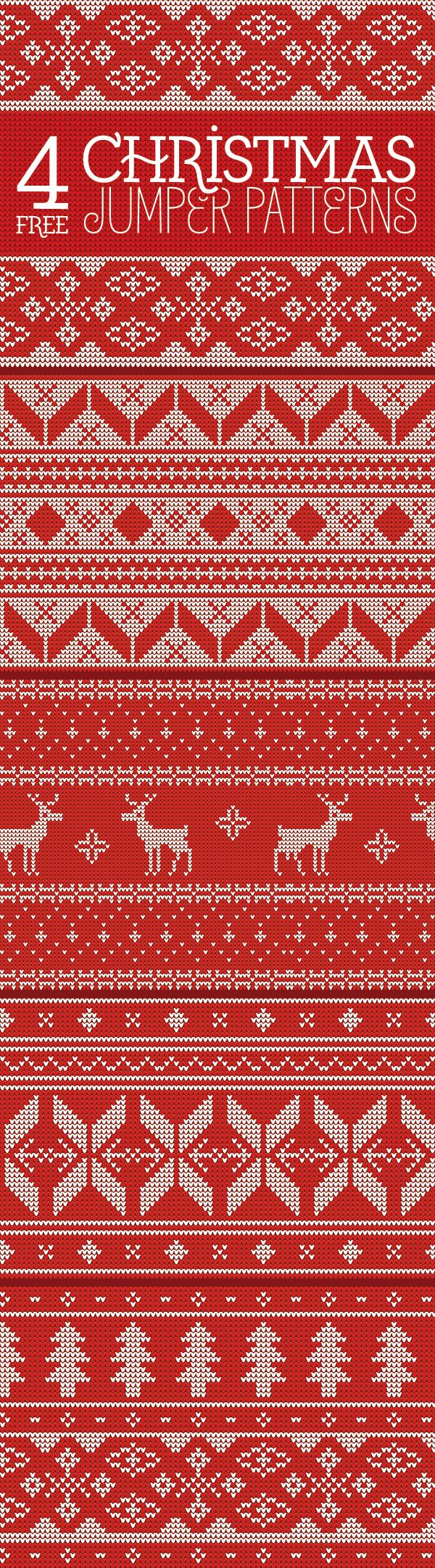Use charts for dishtowl? 4 Free Knitted Christmas Jumper Patterns (16 MB) | blog.spoongraphics.co.uk