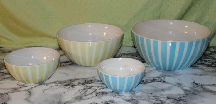 4x alte Elsterwerda Keramik Art Deco Schale Schalen 15,-
