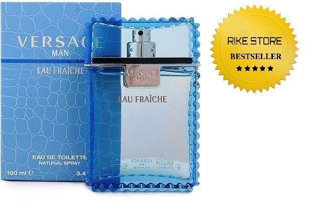 Versace Man Eau Fraiche Blue Cologne Perfume For Men 3.4 oz 100 ml New Edt Spray