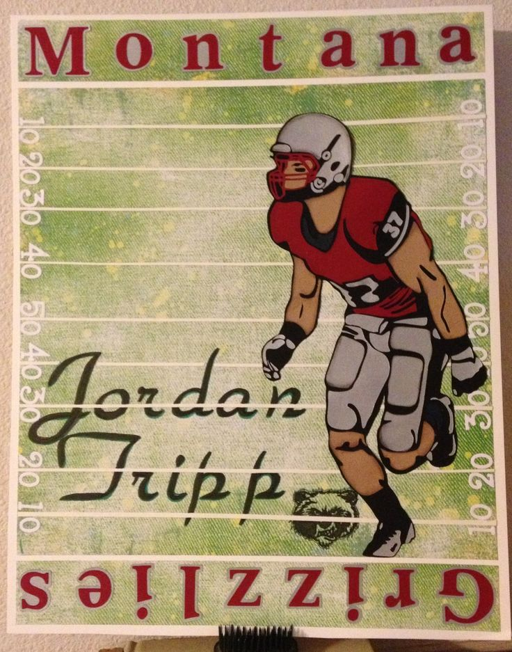 I made this from a photo of Jordan Tripp #37 Montana Grizzlies Football.