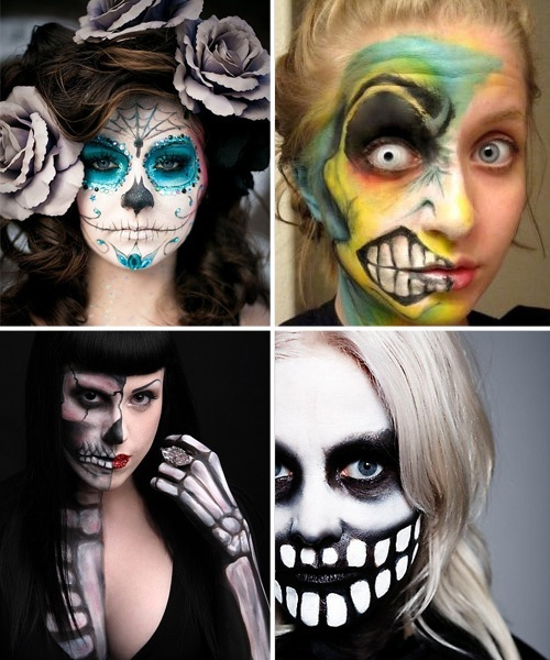 halloween face painting doin it - Halloween Skull Face Paint Ideas