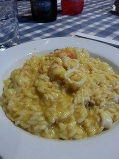 Risotto Prosecco, Zafferano Calamari e Gamberi - Quel Gran Pezz di Cucina