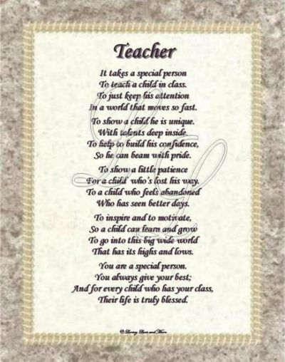 the teachers poem Discover and share teacher appreciation poems and quotes explore our collection of motivational and famous quotes by authors you know and love.