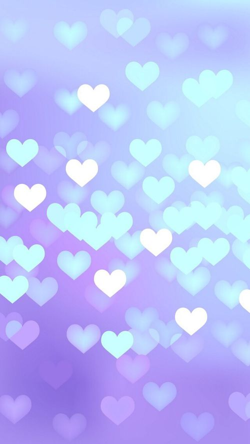 blue hearts on purple