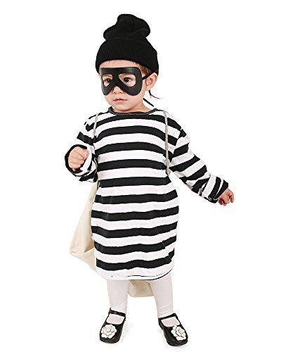 Miccostumes Kids Burglar Robber Halloween Costume Hat Mask Bag (one size)
