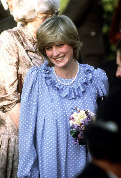 A pregnant Princess Diana visits the Isles of Scilly, April 1982.