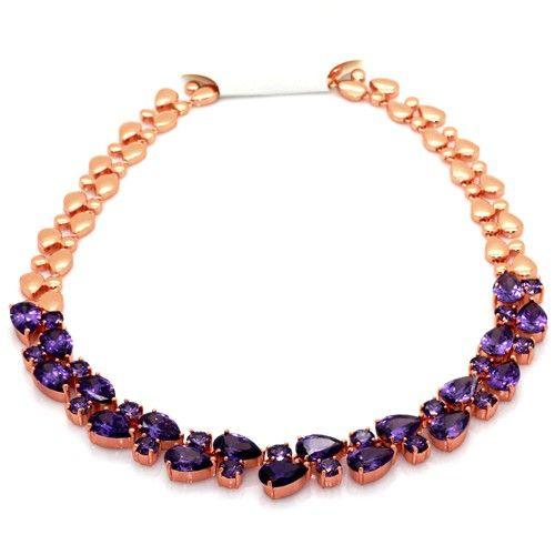 Madame de Pompadour lila féldrágaköves, exkluzív nyakék februárban féláron! I FeminaShop.hu