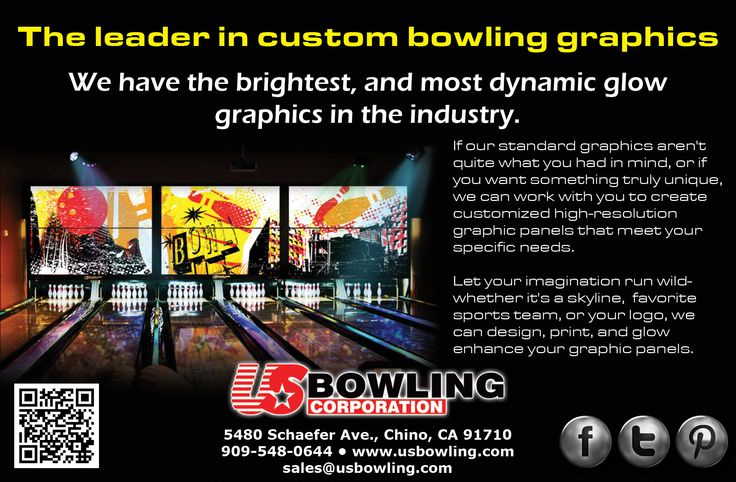 Us Bowling Corporation Has Developed A Proprietary Process To Create The Enhanced Glow Experience These Graphics Are Without A D Graphic Panels Bowling Custom
