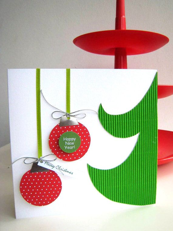 199 best christmas cards images on pinterest cardmaking paper art fun clean and simple card christmas greeting card handmade by elenasaglfe on etsy m4hsunfo