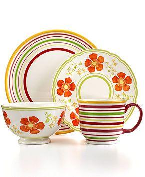 martha stewart collection poppy mix u0026 match dinnerware collection casual dinnerware dining u0026