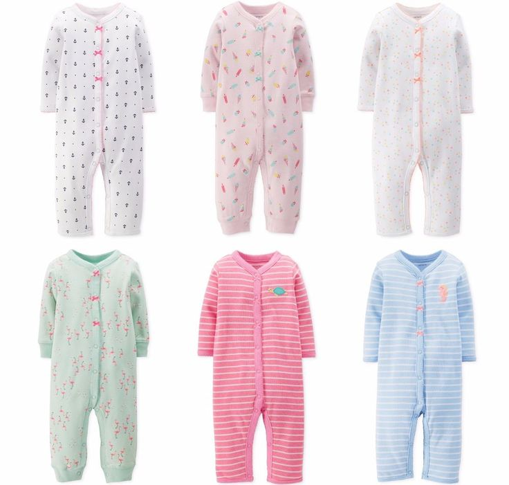 NWT Carter's Girls Footless Sleeper Jumpsuit Newborn 3 6 9 Months You Choose  | Clothing, Shoes & Accessories, Baby & Toddler Clothing, Girls' Clothing (Newborn-5T) | eBay!