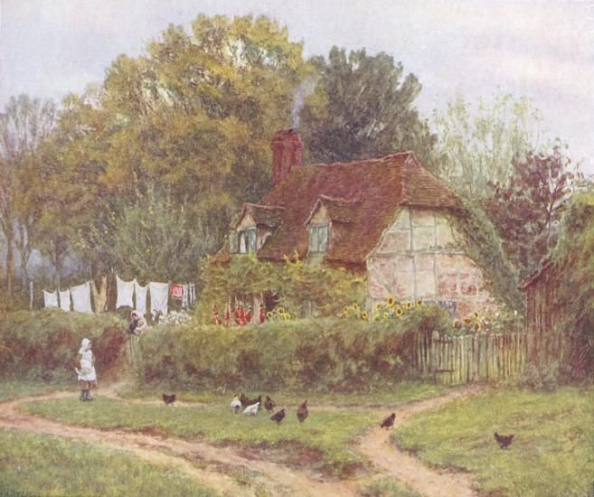 A Cottage at Hambledon by Helen Allingham