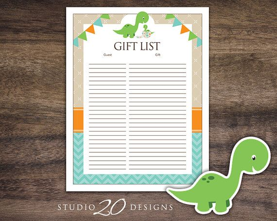 gift registry list to not only keep track of the baby shower gifts