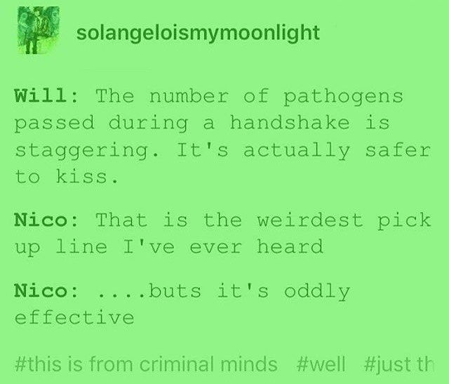 solangelo - Oddly effective pick-up line