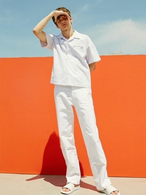 Pin-stripe Cabana Half Sleeves Shirts
