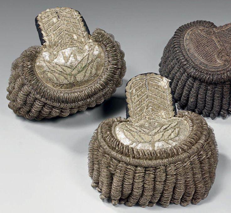 Epolety pułkownika regimentu szwoleżerów gwardii cesarza Napoleona I/Colonel epaulettes of polish lancers regiment of Imperial Guard ,