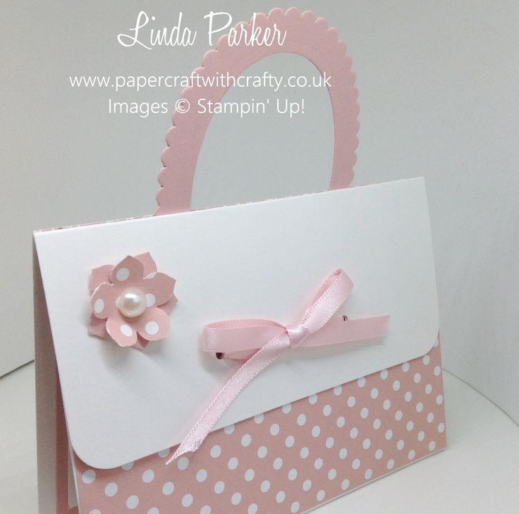 Handbag Gift Card Holder. Layering Ovals Framelits. Stampin Up. http://www.papercraftwithcrafty.co.uk/2016/10/handbag-gift-card-holder.html