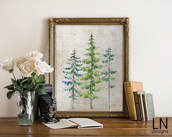 Instant Conifer Trees Pine Tree Evergreens Woodland Theme