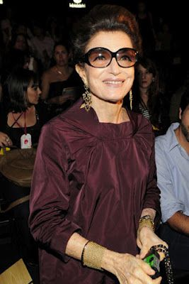 Makes me think of my Mom, always so elegant and classy.....How cool is 72-year-old Costanza Pascolato?