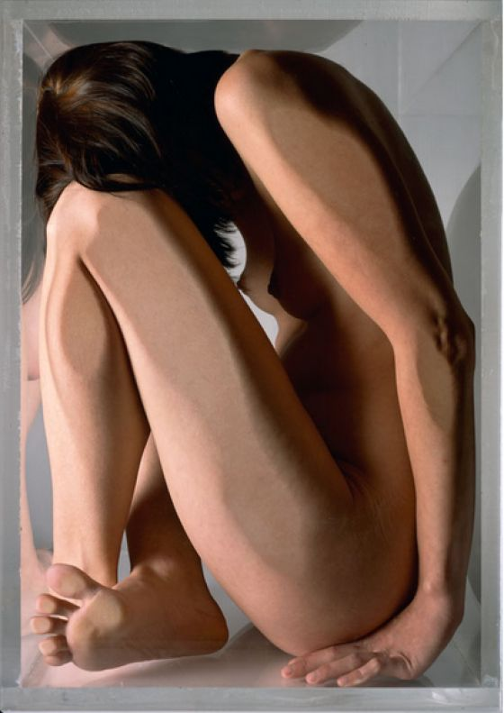Coke Wisdom O'Neal - Blue Nude - Ritratti fotografici di corpi nudi in cubi di vetro