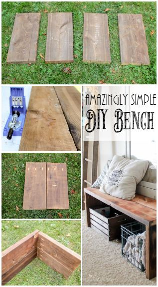 Building this bench couldn't be more simple and the end result is awesome!