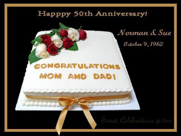 Gift Ideas For Parents Paying For Wedding : wedding anniversary on 50th wedding anniversary party wedding wedding ...