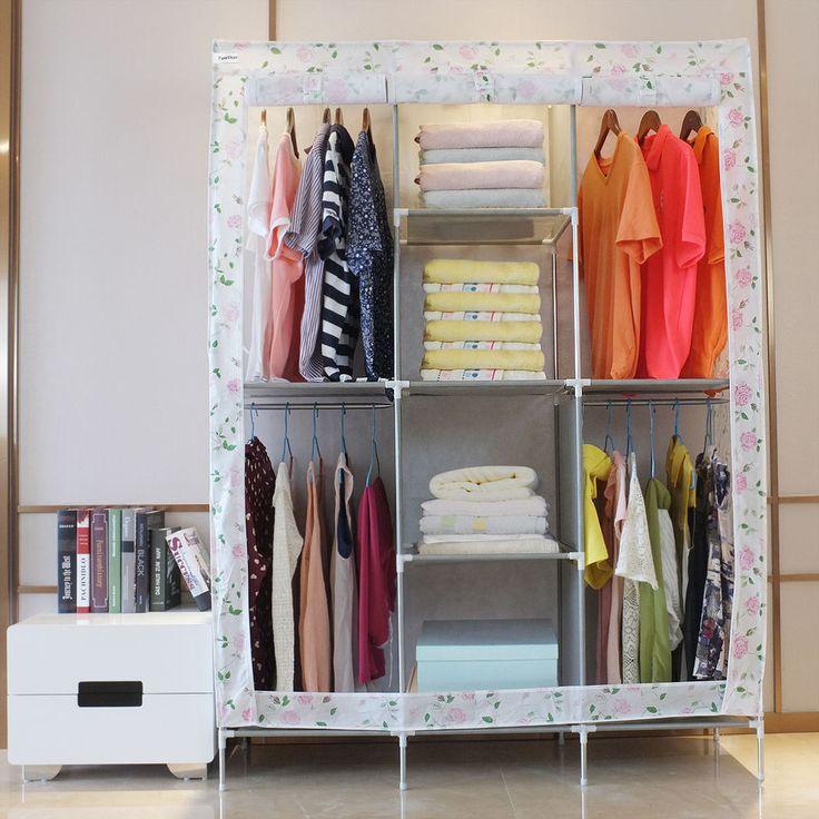 Marvelous Stoffschrank Faltschrank Textilschrank Kleiderschrank Garderoben Campingschrank in M bel u Wohnen M bel Kleiderschr nke eBay