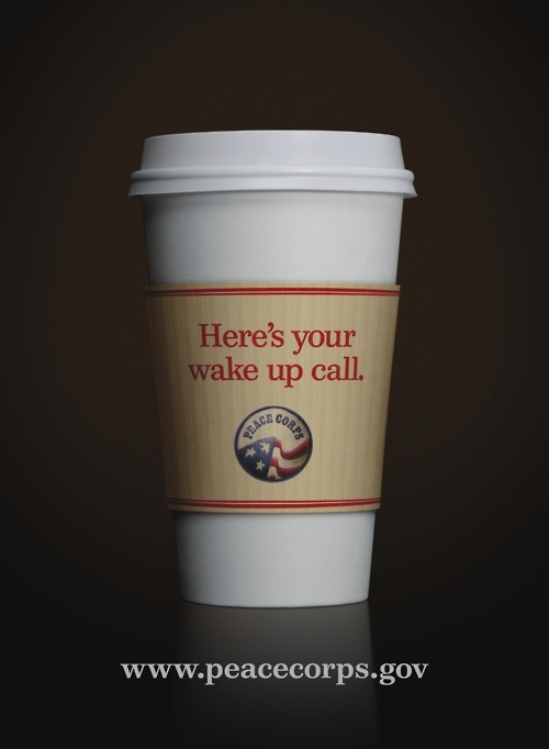 Another Peace Corps promo.  #Peace Corps #Coffee #Ad