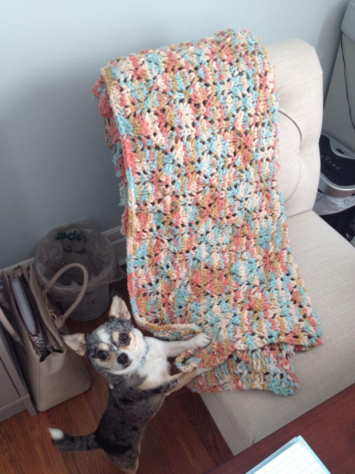 Bernat Blanket Quot Seaside Blanket Quot Pattern In Quot Sailor S