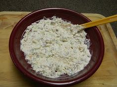 Chicken salad with cream cheese....i made this recipe and used cream cheese, part mayo and part miracle whip.  I didn't add the celery.  I used rotissorie chicken, added some dried cranberries and feta cheese.  YUM