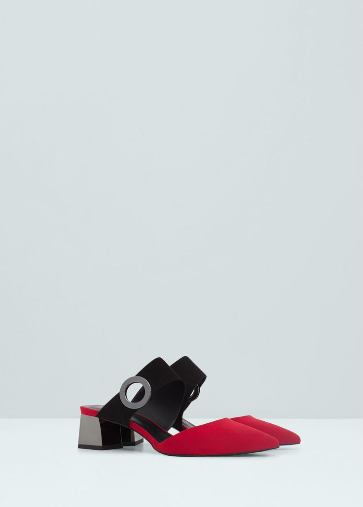 Metallic heel shoes | MANGO