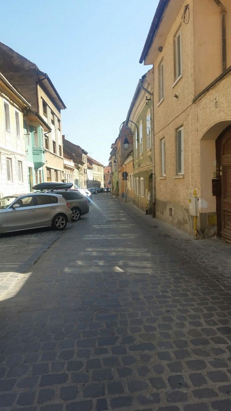 Brașov street,Romania