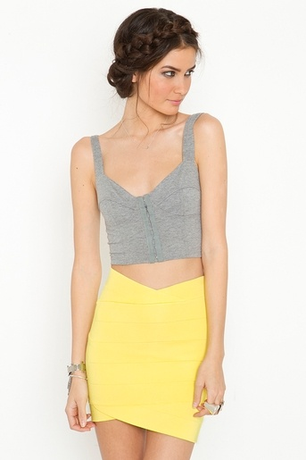 the colour block. the braids!: Outfit, Yellow Skirts, Pump, Style Ish, Summer Skirts, Summer Fun, Tulip Skirts, Hair, Bandage Skirts