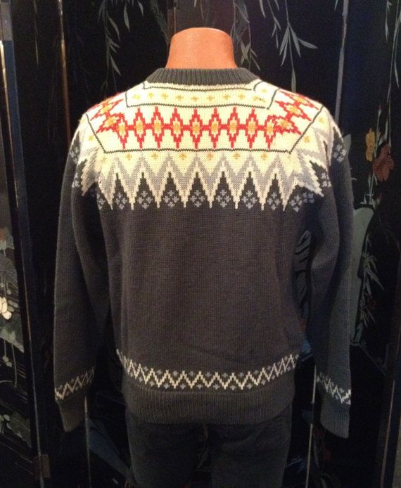 Vintage 50's Norwegian Wool Sweater by O. Allers by SullysVintage