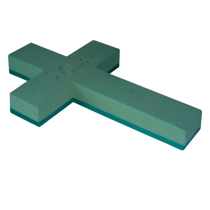 cross on the plastic base