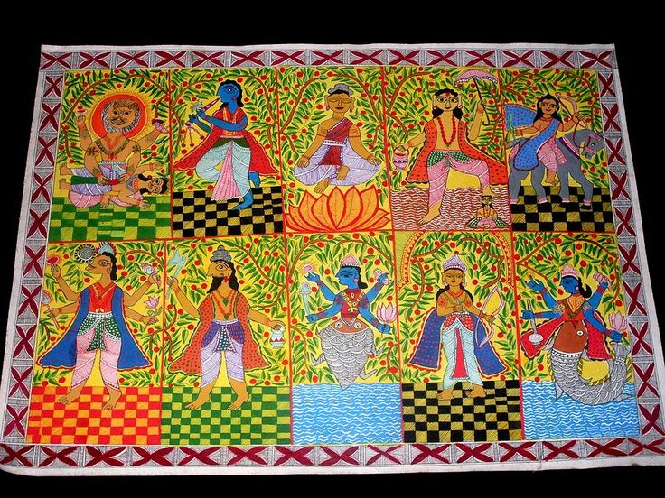 Dasha Avatar Madhubani Paintings