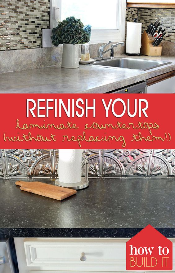Refinish Your Laminate Countertops (Without Replacing Them!)| Refinish Countertops, How to Refinish Countertops, Countertops, DIY Home, Home Improvement, Easy Home Improvement Projects, DIY Home Improvement #DIY #DIYHome #HomeImprovement