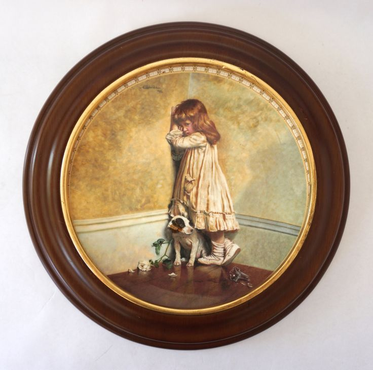 """FREE SHIPPING Royal Doulton """"A Victorian Childhood"""" Plate, """"In Disgrace"""" Collectible Plate, Framed Plate, Decorative Plate, Victorian Decor by ForeverCharmVintage on Etsy"""