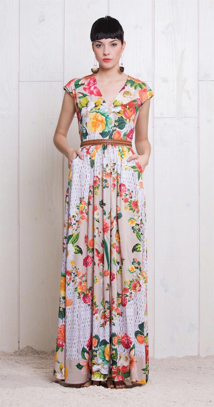 Vestido Longo Cesta de Flores | Vestidos | Antix Store