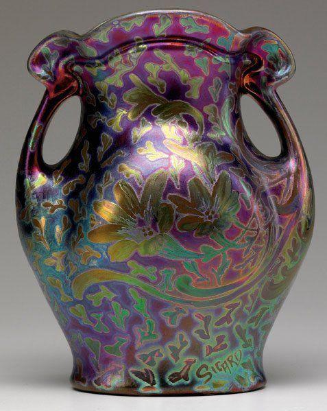 WELLER Sicard | Two-handled vase