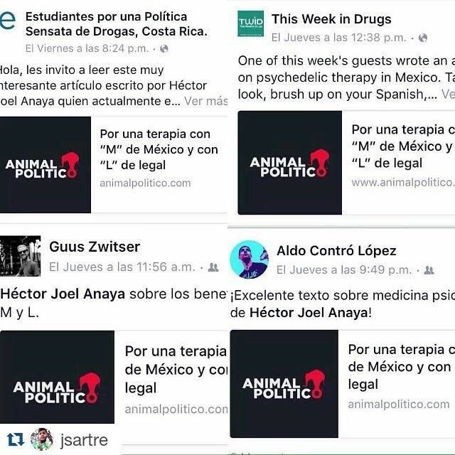 epsd_mx! #Repost @jsartre with @repostapp  Thanks to all My friends and partners for share my article about MDMA and LSD reform in Mx http://ift.tt/1SJRQIW #lsd #mdma #drugpolicy #drugpolicyreform #legal #psychedelic #psychedelicsociety #psichedelico #pstd #tept #droga #drug #politicadrogas #animalpolitico #activism #researcher #leersobredrogas #molly #terapia #ssdp - http://ift.tt/1VH9ijQ