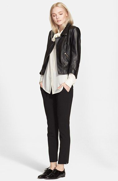 Theory 'Emmanuelle' Tie Front Silk Blouse   Nordstrom