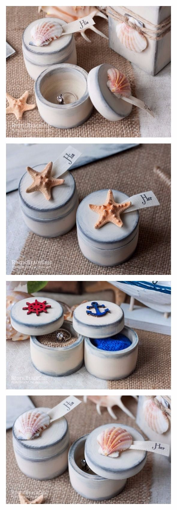 Wedding Ring Box, Beach Ring Bearer Box, Nautical Wedding Ring Bearer for Mr and Mrs, Engagement Ring Box, Pillow Alternative  Beach wedding is always bright and unusual. RusticBeachChic presents to you original ideas for a beach wedding, which will make your celebration unforgettable, and also impress your guests.