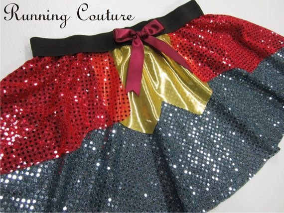 Mr Rabbit inspired red and grey sheer sparkle misses running