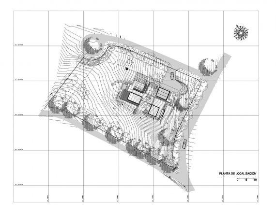 Casa La Petra. Planta de localización